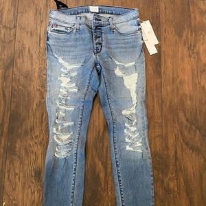 Hudson Ciara super skinny exposed button NWT 27